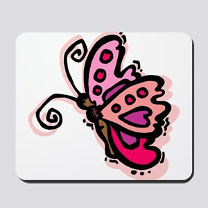 Pink Butterfly103 Mousepad