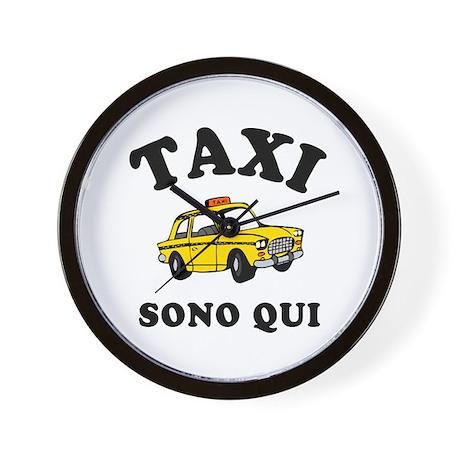 Taxi Sono Qui Wall Clock
