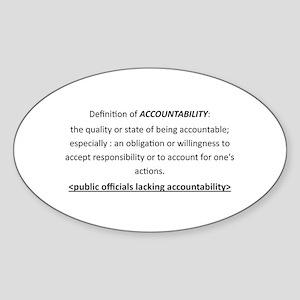 Accountability Sticker (Oval)
