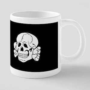 skull, death, 14 words 20 oz Ceramic Mega Mug