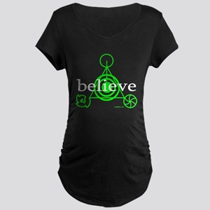 ALIEN CROP CIRCLE Maternity Dark T-Shirt