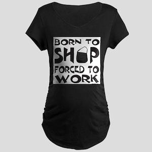 BORN TO SHOP Maternity Dark T-Shirt