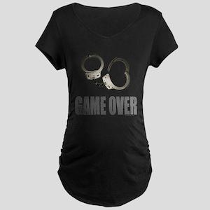 HANDCUFFS/POLICE Maternity Dark T-Shirt