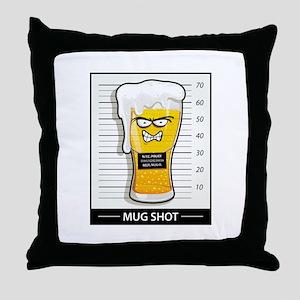 """""""Mug Shot"""" Throw Pillow"""