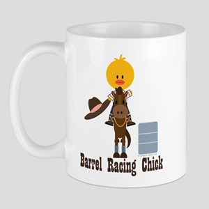 Barrel Racing Chick Mug