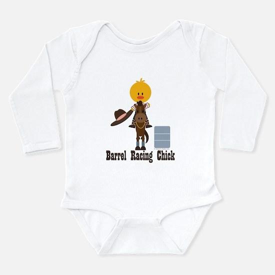 Barrel Racing Chick Long Sleeve Infant Bodysuit