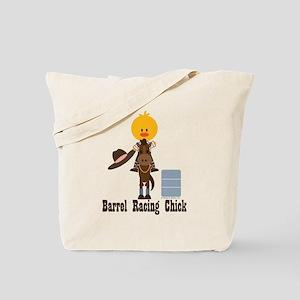 Barrel Racing Chick Tote Bag