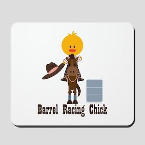 Barrel Racing Chick Mousepad