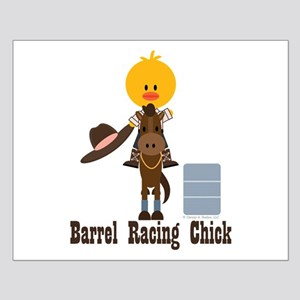 Barrel Racing Chick Small Poster