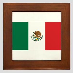 Mexican Flag Framed Tile