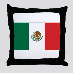 Mexican Flag Throw Pillow