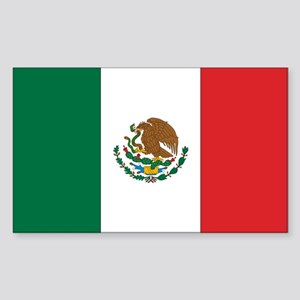 Mexican Flag Rectangle Sticker
