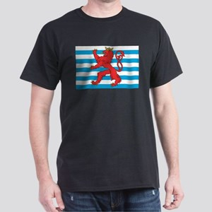 Luxembourg Civil Ensign Black T-Shirt