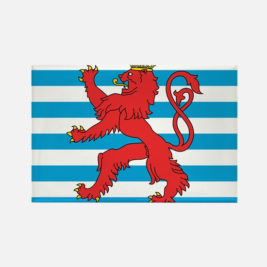 Luxembourg Civil Ensign Rectangle Magnet