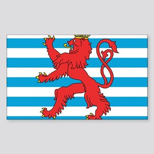 Luxembourg Civil Ensign Rectangle Sticker