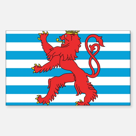 Luxembourg Civil Ensign Rectangle Decal