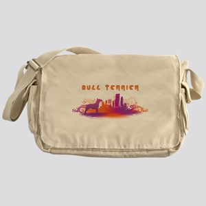"""City"" Bull Terrier Messenger Bag"