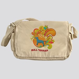 Groovy Bull Terrier Messenger Bag
