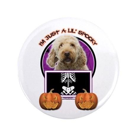 """Just a Lil Spooky GoldenDoodle 3.5"""" Button (100 pa"""