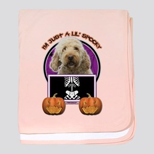 Just a Lil Spooky GoldenDoodle baby blanket