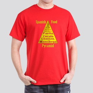 Spanish Food Pyramid Dark T-Shirt