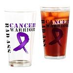 PancreaticCancer Warrior Drinking Glass