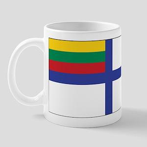Lithuania Naval Ensign Mug