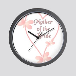 Mother Of The Bride Pink Hear Wall Clock