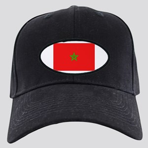 Moroccan Flag Black Cap
