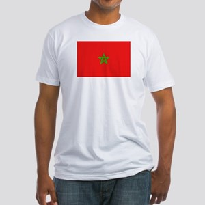 Moroccan Flag Fitted T-Shirt