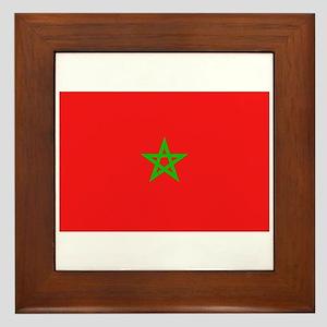 Moroccan Flag Framed Tile