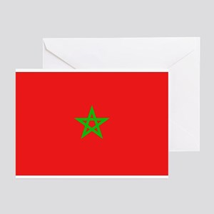Moroccan Flag Greeting Cards (Pk of 10)