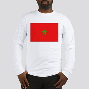 Moroccan Flag Long Sleeve T-Shirt