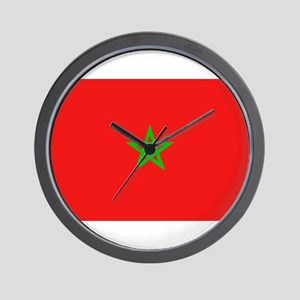 Moroccan Flag Wall Clock
