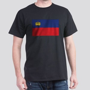 Liechtenstein Flag Black T-Shirt