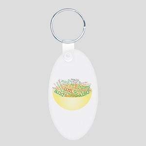Word Salad Bowl Aluminum Oval Keychain