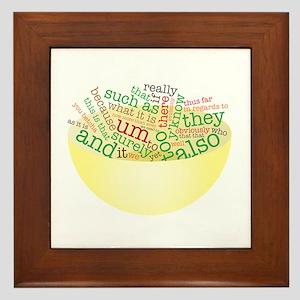 Word Salad Bowl Framed Tile