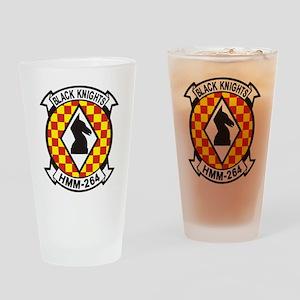 HMM-264 Black Knights Drinking Glass