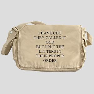 obsessive compulsive disorder Messenger Bag