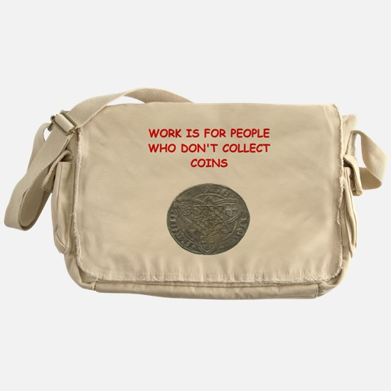 coin collector Messenger Bag