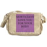 mortician gifts t-shirts Messenger Bag