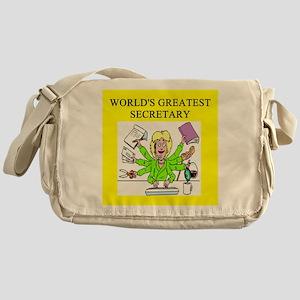 secretary gifts t-shirts Messenger Bag