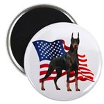 American Flag Doberman 2.25