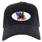 American Flag Doberman Black Cap