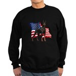 American Flag Doberman Sweatshirt (dark)
