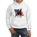 American Flag Doberman Hooded Sweatshirt