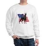American Flag Doberman Sweatshirt