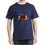 American Flag Doberman Dark T-Shirt