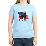 American Flag Doberman Women's Light T-Shirt