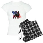 American Flag Doberman Women's Light Pajamas